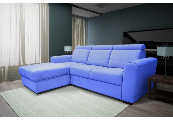 Угловой диван Констанция с оттоманкой